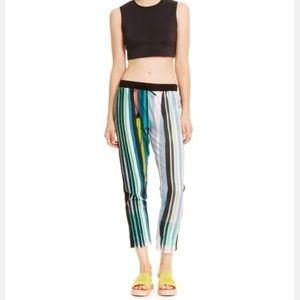 "Clover Canyon ""Eclipse"" Striped Drawstring Pants"